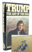 Donald J. Trump The Art Of The Deal Signed 1st Edition 3rd Printing