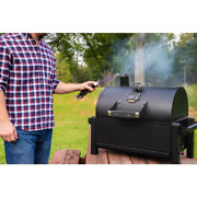 Black Rambler Portable Tabletop Charcoal Grill Height Adjustable Tray Air Damper