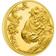 Beauty And The Beast 30th Anniversary Disney - 2021 1/4 Oz Pure Gold Coin - Niue