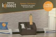 Bostitch Konnect 3-piece Desk Organizer And Cable Kt-kit1-gray
