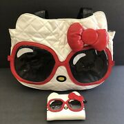 Hello Kitty Loungefly White Red Black Tote Handbag And Wallet Very Rare