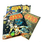 Star Wars Large Treasury Comic Book 1977 Marvel Special Edition Lot Of 4