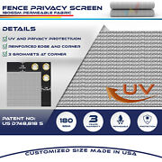 11ft Gray Fence Privacy Screen Commercial 95 Blockage Mesh Fabric W/gromment