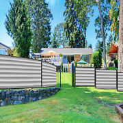 11ft Gray White Fence Privacy Screen Commercial 95 Blockage Mesh W/gromment