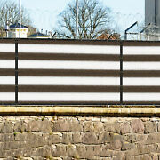 11ft Brown White Fence Privacy Screen Commercial 95 Blockage Mesh W/gromment