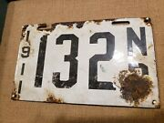 1911 New Brunswick Canada Porcelain License Plate Rare 110 Years Old