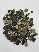 Huge Lot Of Vintage Military Buttons Mixed Era Ww1 Ww2