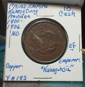 Nice Copper China 10 Cash 1900 Y193 Kwang Tung Province Look And Bid Buy It Now