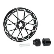 18and039and039 Cnc Front Wheel Rim Hub Single Disc Fit For Harley Road King Non Abs 08-21