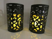 Wall Candle Sconce Holder Set Of 2 Hanging Wall Mounted Pillar Battery Candle Op