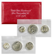1976 Silver 3 Coin United States Us Mint Uncirculated Bicentennial Set