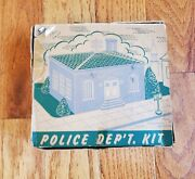 Vintage Plasticville Usa Police Department Kit With Box Oands Gauge Scale Pd-3
