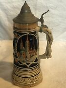 Vintage Authentic Lador German Beer Stein With Pewter Lid Bamberg, Germany