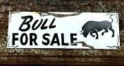 Vintage Ranch Primitive Rusty Bull For Sale Barn Stable Hand Painted Farm Sign
