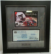 Carroll Shelby Framed Autograph Check 002126 Certified