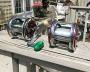 Pair Penn Senator 112h W/ Brand New Accurate Reel Frames Excellent Condition