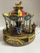 2004 Lemax Village Collection Belmont Carousel Animated Musical Merry-go-round