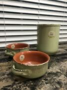 De Silva Terre D'umbriarustic Terracotta Soup Bowls Casserole Dishes And Canister