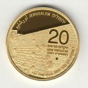 Israel 2011 The Western Wall Jerusalem Of Gold 2nd Bullion Coin 1oz Pure Gold