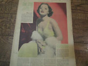 Antique 1938 Screen And Radio Weekly Erin/ Ellen Drew Photo Article / Dime Store