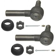 Set-moes423l-2 Moog Set Of 2 Tie Rod Ends Front Or Rear Driver And Passenger Pair