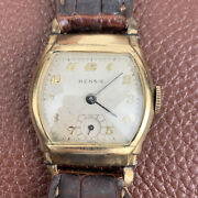Rensie 40and039s Swiss Menand039s Art Deco Watch Non-running Sold As-is