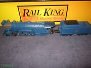 Mth Railking 30-1172-1 Cnj 4-6-2 Blue Comet Pacific Steam Engine W/ps-2 Bcr