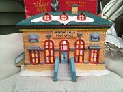 Vintage It's A Wonderful Life Bedford Falls Post Office Illuminated 1998 Dhc