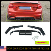 Psm Style Black Painted Rear Bumper Lip Diffuser For 2015-2020 Bmw F80 M3 F82 M4