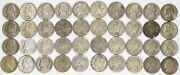 Mixed Date Jefferson War Nickels 5c 35 Silver Average Circulated - 40 Coins