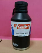 Coleman Stainless Steel Growler 64oz Black Vacuum Insulated Water Bottle Thermos
