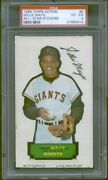 1968 Topps Action All-star Sticker 5 Willie Mays Psa 4 4312
