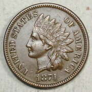 1874 Indian Cent, Almost Uncirculated, Better Date 0528-01