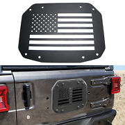 Black Flat Tailgate Spare Tire Carrier Mount Plate For 2018-up Jeep Wrangler Jl