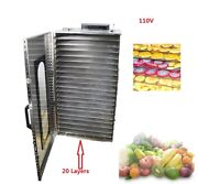 20 Layers Stainless Drying Machine 110v For Vegetables Fruit Herbs Cheese Etc.