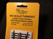 Micro- Engineering 14-717 Ho Ladder Track System Turnout Rh 5d Code 83