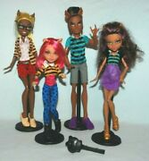 Monster High Pack Of Trouble 4 Doll Set Inc Clawd Howleen Clawdeen And Clawdia