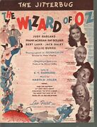 Jitterbug 1939 The Wizard Of Oz Judy Garland Deleted From Movie Sheet Music