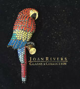 Joan Rivers Limited Edition Numbered Exotic Crystal Macaw Parrot Brooch J153