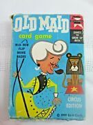 Vintage Old Maid Card Game Circus Edition Complete 1959 Ed-u-cards
