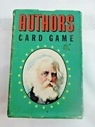 Vintage Authors Card Game Complete Whitman With Instructions Rules