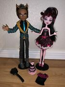 Monster High Sweet 1600 Draculaura And Clawd Wolf Dolls First Wave 1st Wave-wave 1