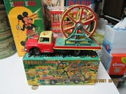 Ferris Wheel Space Circus 1956 Tin Litho Friction Truck N Mint Boxed Works Japan