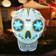 4foot High Christmas Inflatable Skull Blow Up Yard Decoration Indoor Outdoor