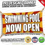 Swimming Pool Now Open Advertising Vinyl Banner Sign No Cheap Flag