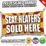 Seat Heaters Sold Here Advertising Vinyl Banner Sign No Cheap Flag