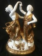 Beautifull Large Antique Porcelain Figurine Germany Hand Carved Decorative Used