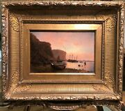 Oil Painting By Charles Ward 1831 -1896 19th Century Old Master Gold Gilt Frame
