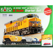 Kato 1060022 Ge Es44ac Gevo And Mixed Freight Starter Set Canadian Pacific N Scale