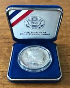 1987-s 90 Proof Us Mint Constitution Bicentennial Commemorative Silver Dollar